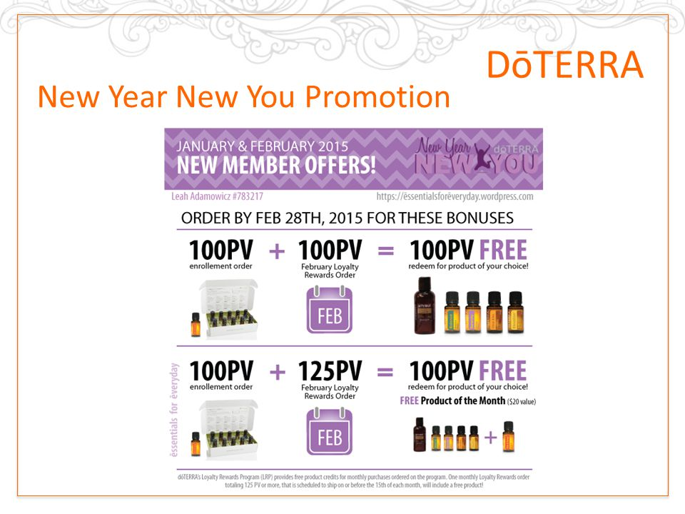 New Year New You  – dōTERRA Promotion