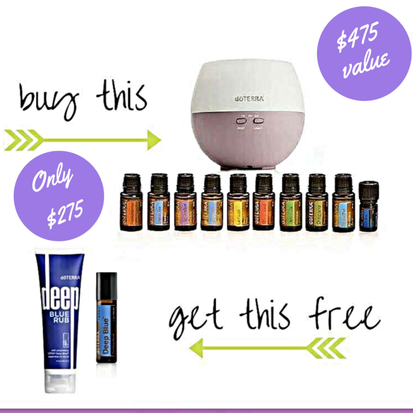 Free diffuser, free membership, free deep blue products, free The Essential Life book, free 5ml Wild Orange oil!